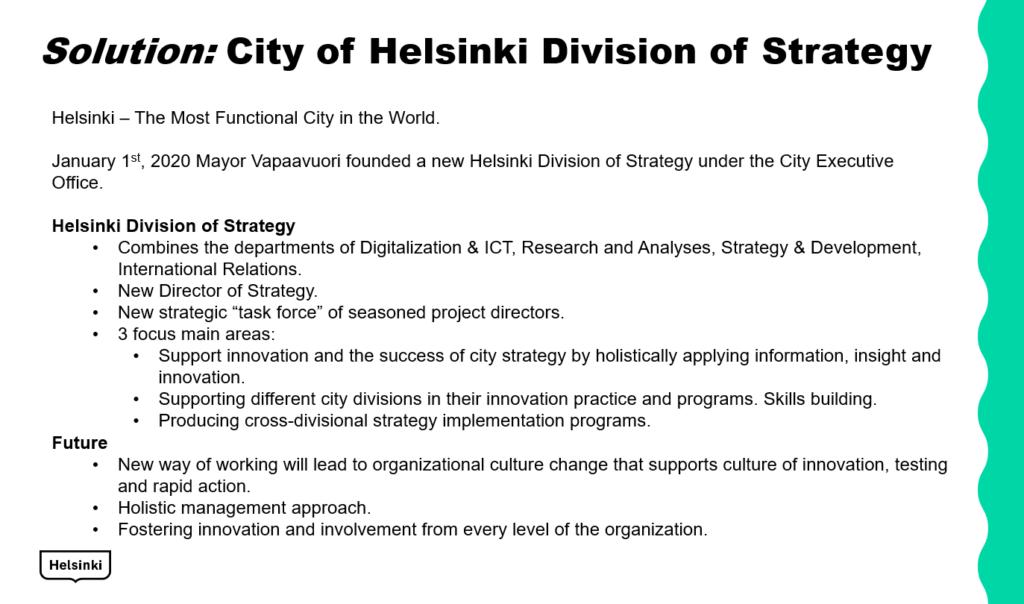 helsinki finland - smart city strategy